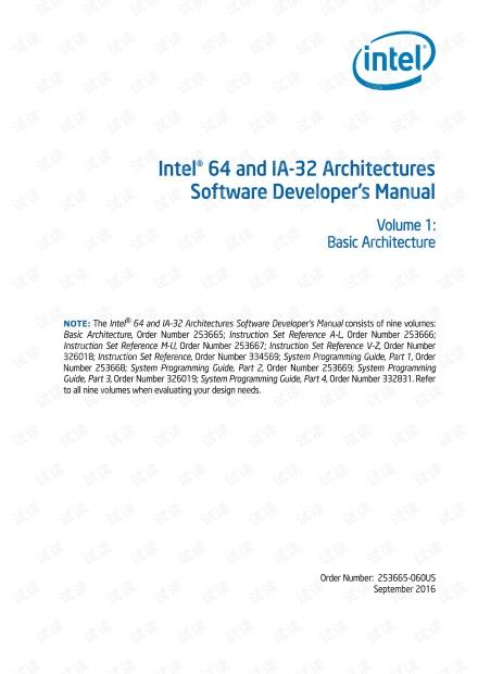 英特尔64和 IA-32 体系结构的软件开发人员手册卷1-基础架构.pdf