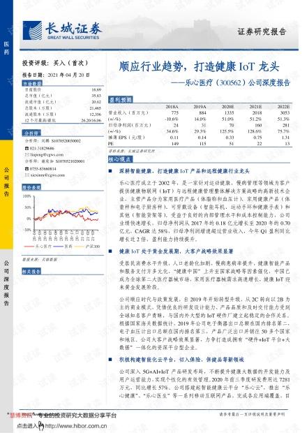20210420-长城证券-乐心医疗-300562-公司深度报告:顺应行业趋势,打造健康IoT龙头.pdf