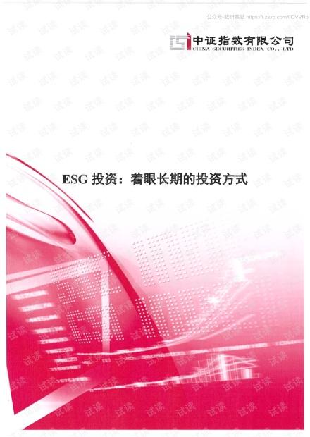 中证指数-ESG投资:着眼长期的投资方式-2020.pdf