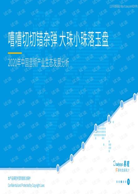 2020年中国音频产业生态发展分析精品报告2020.pdf