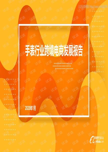 阿里巴巴国际站手表行业跨境电商发展报告精品报告2020.pdf