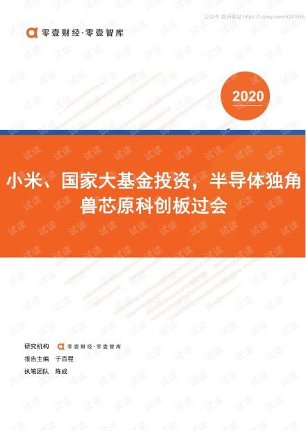 零壹智库-半导体独角兽芯原科创板过会-2020.6-17页精品报告2020.pdf
