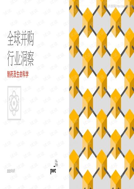 普华永道-全球并购行业洞察:制药及生命科学-2020.9-6页精品报告2020.pdf