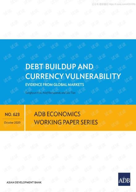 亚开行-债务积累和货币脆弱-:来自全球市场的证据(英文)-2020.10-28页精品报告2020.pdf