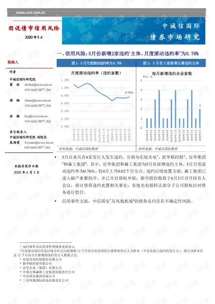 中诚信国际-图说债市信用风险2020年5月-2020.6.3-12页精品报告2020.pdf