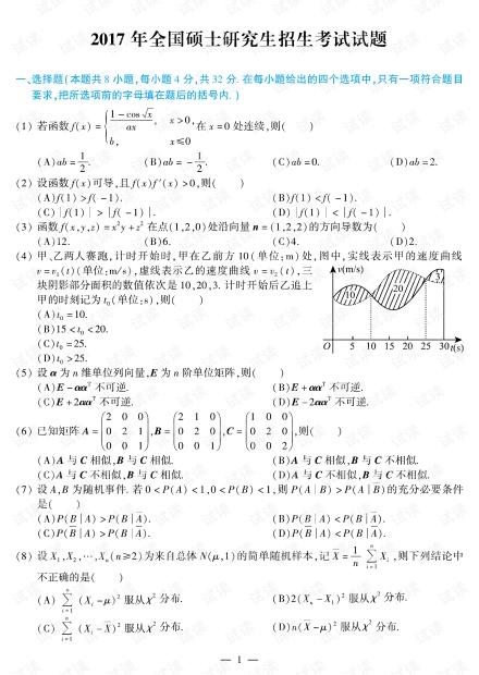 2017年数学一真题.pdf