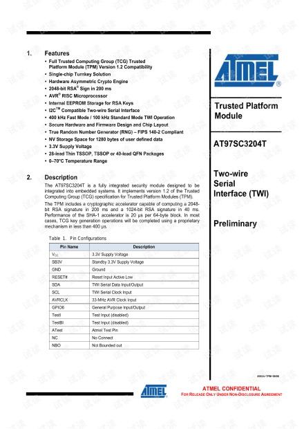 AT97SC3204T datasheet