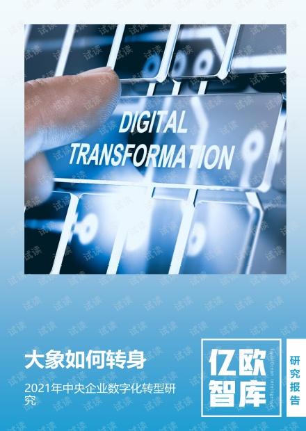 2021年中央企业数字化转型研究报告 .pdf