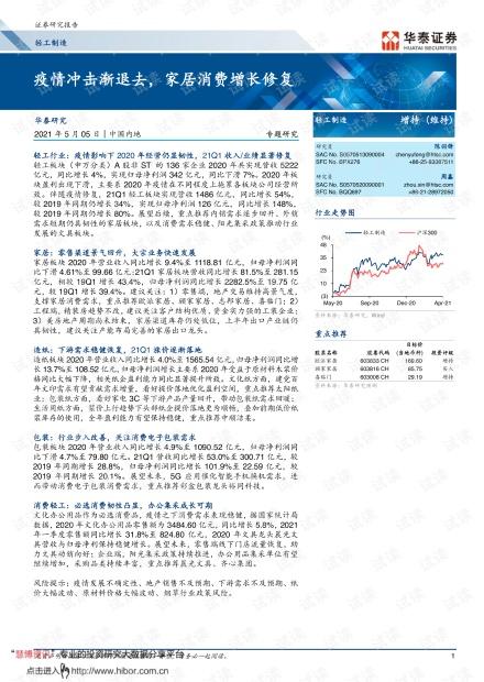 20210505-华泰证券-轻工制造行业:_疫情冲击渐退去,家居消费增长修复.pdf