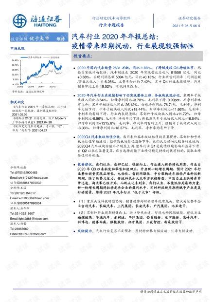 20210506-海通证券-汽车行业2020年年报总结:疫情带来短期扰动,行业展现较强韧性.pdf