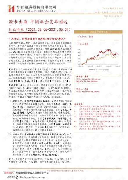 20210509-华西证券-汽车行业周报:蔚来出海,中国车企变革崛起.pdf