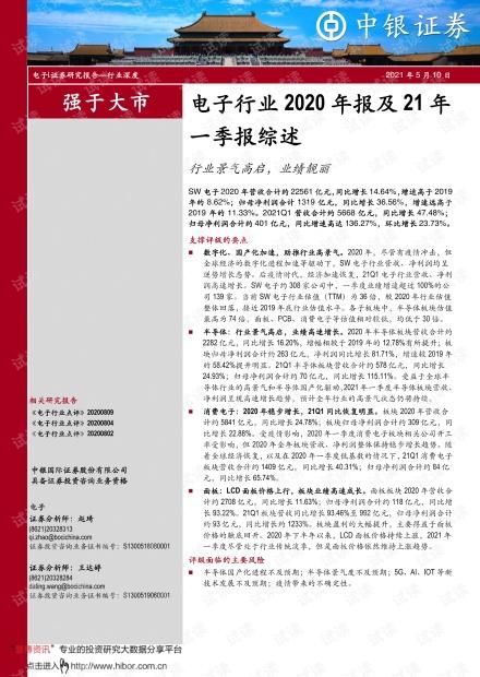 20210510-中银国际-电子行业2020年报及21年一季报综述:行业景气高启,业绩靓丽.pdf