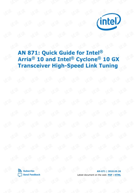 Intel_Arria10_andCyclone10_GX_Transceiver_High-Speed_Link_Tuning.pdf