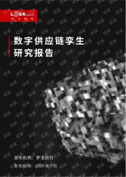 数字供应链孪生研究报告2020.07.06..pdf