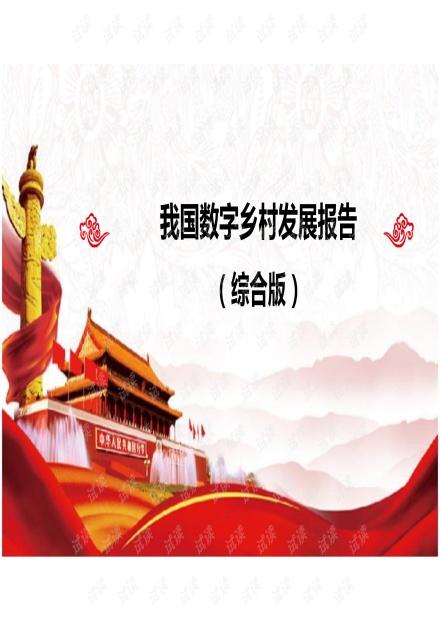 数字乡村新基建智慧乡村发展报告.pdf