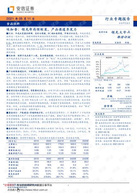 20210511-安信证券-食品饮料行业:味知香,领先布局预制菜,产品渠道齐发力_.pdf