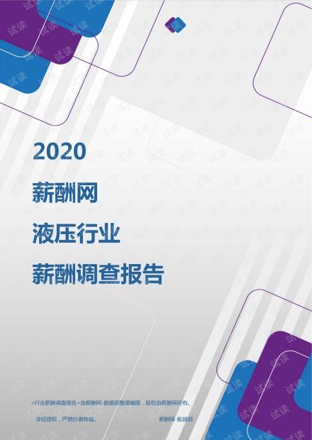 薪酬报告系列-2020年液压行业薪酬调查报告.pdf