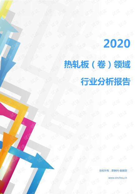 2020年冶金能源环保金属材料及工具(金属材料及加工)行业热轧板(卷)领域行业分析报告(市场调查报告).pdf