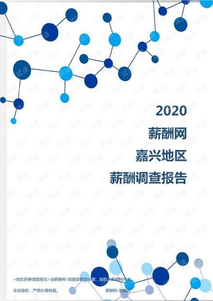 薪酬报告系列-2020年嘉兴地区薪酬调查报告.pdf