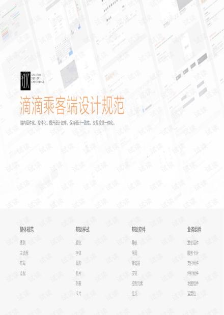 滴滴乘客端UI设计规范.pdf