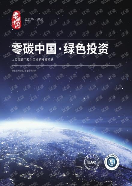 零碳中国·绿色投资3-以实现碳中和为目标的投资机遇 -中国投资协会 落基山研究所.pdf