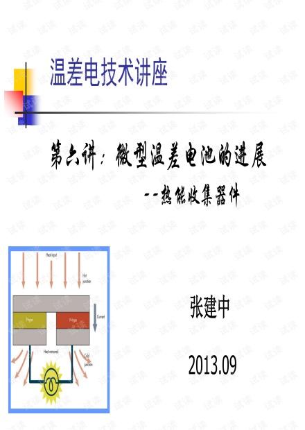 微温差电池的进展.pdf