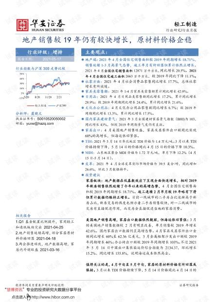 20210517-华安证券-轻工制造行业月报:地产销售较19年仍有较快增长,原材料价格企稳.pdf