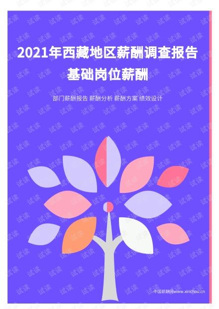 2021年薪酬报告系列之西藏地区薪酬调查报告.pdf .pdf