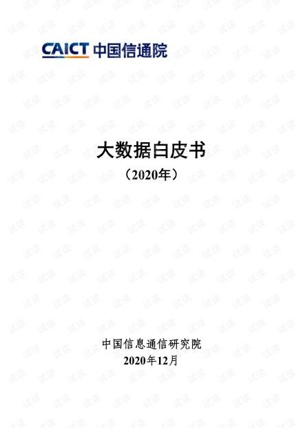 大数据白皮书2020年.pdf