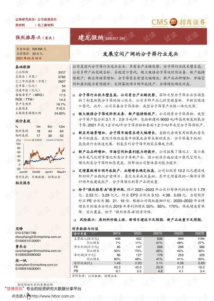 20210616-招商证券-建龙微纳-688357-发展空间广阔的分子筛行业龙头.pdf