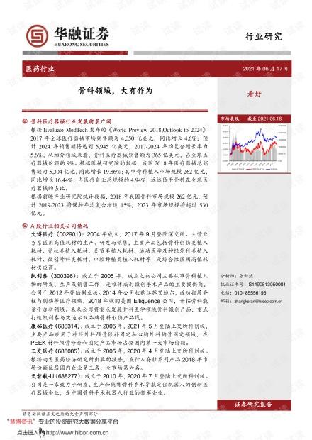 20210617-华融证券-医药行业:骨科领域,大有作为.pdf