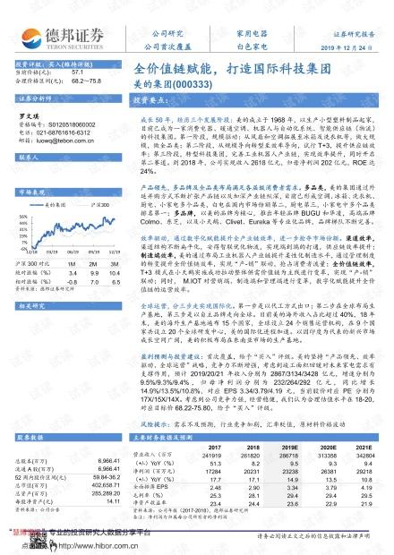 20191224-德邦证券-美的集团-000333-全价值链赋能,打造国际科技集团.pdf