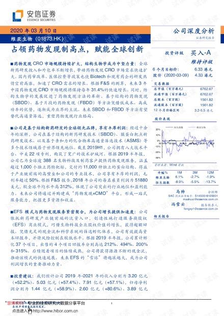 20200310-安信证券-维亚生物-1873.HK-占领药物发现制高点,赋能全球创新.pdf