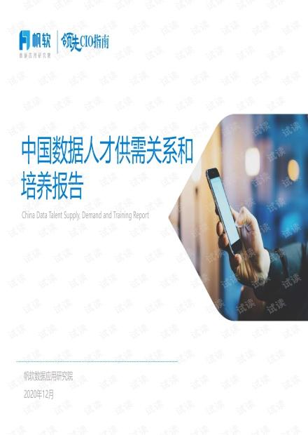 中国数据人才供需关系和培养报告.pdf