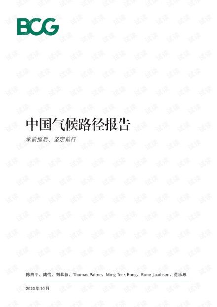 中国碳中和目标和气候路径报告-BCG-2020.10-24页.pdf