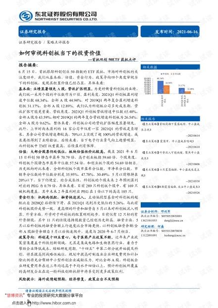 20210616-东北证券-首批双创50ETF获批点评:如何审视科创板当下的投资价值.pdf