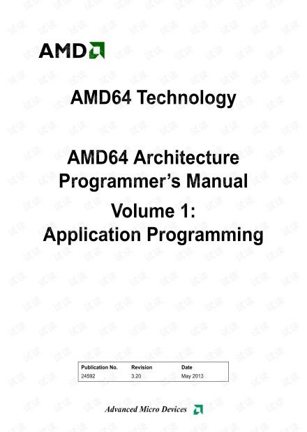 AMD64 Architecture Programmer's Manual Volume 1 - Application Programming.pdf