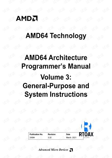 AMD64 Architecture Programmer's Manual Volume 3