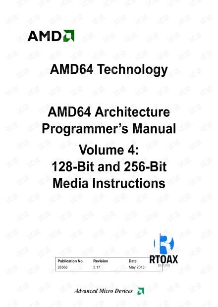 AMD64 Architecture Programmer's Manual Volume 4 - 128-Bit Media Instructions.pdf