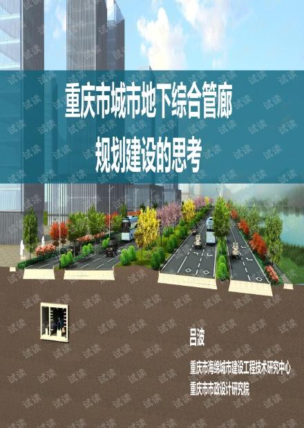 吕波2017.11重庆市城市地下综合管廊规划建设的思考.pdf