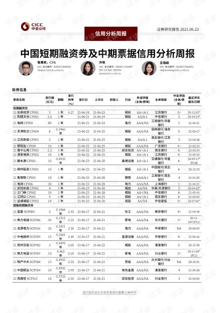 20210623-中金公司-信用分析周报:中国短期融资券及中期票据信用分析周报.pdf