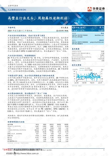 20210623-华泰证券-久立特材-002318-高壁垒行业龙头,周期属性逐渐削弱.pdf
