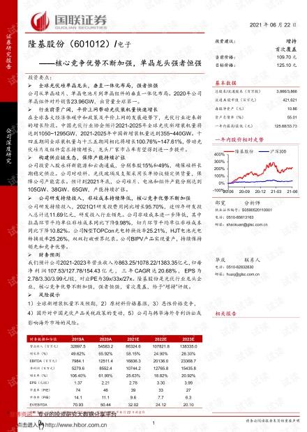 20210622-国联证券-隆基股份-601012-核心竞争优势不断加强,单晶龙头强者恒强.pdf