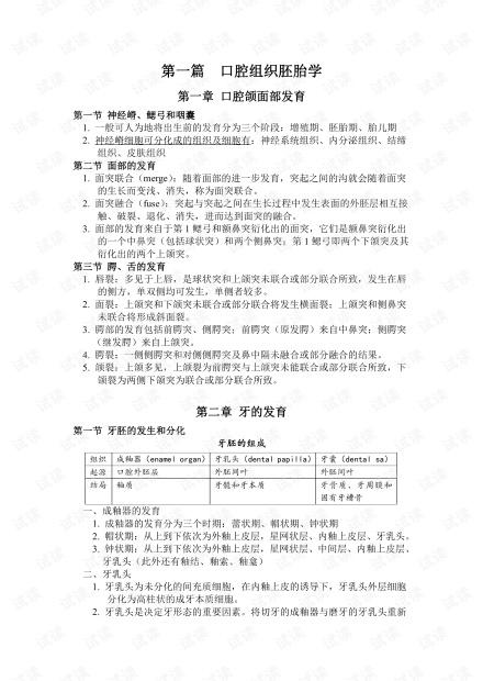华西口腔医学院--口腔组织病理学-期末复习知识点汇总.pdf