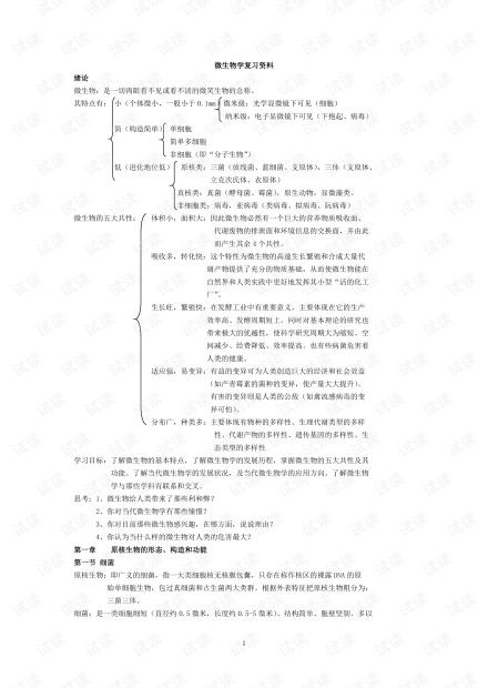 微生物学复习资料.pdf