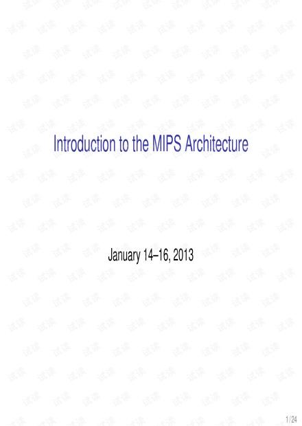 02-MIPSArchitecture.pdf