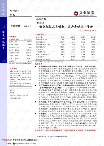 20210623-兴业证券-极米科技-688696-智能微投品类崛起,国产先锋执牛耳者.pdf