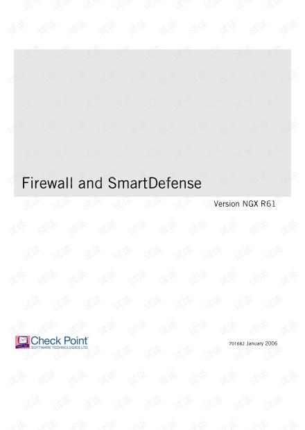 CheckPoint_R61_Firewall_SmartDefense_UserGuide