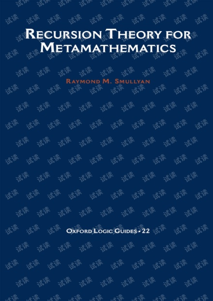Recursion Theory for Metamathematics(Raymond M. Smullyan)