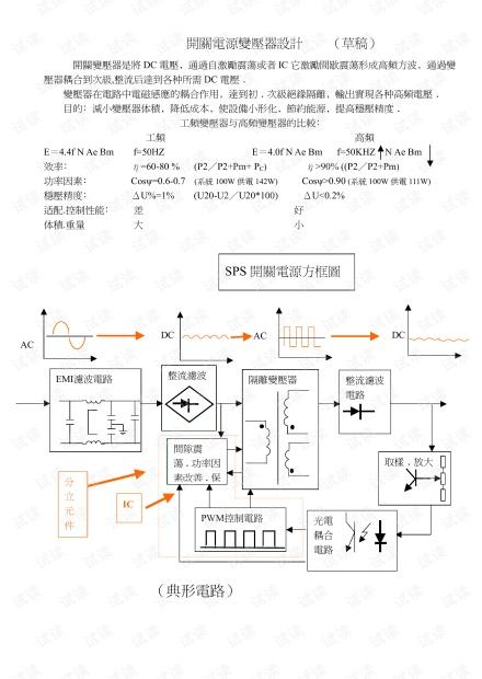 经典的开关电源变压器设计资料